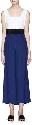 STAUD 'Joyce' cross back colourblock jumpsuit