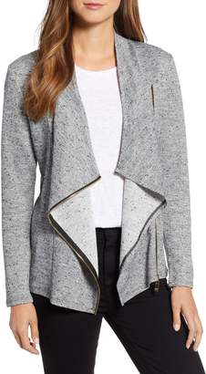 Chaus Asymmetrical Zip Front French Terry Jacket