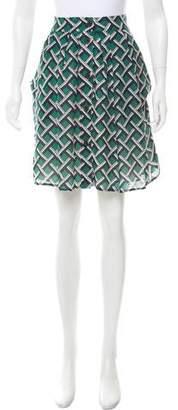 Derek Lam Knee-Length Printed Skirt