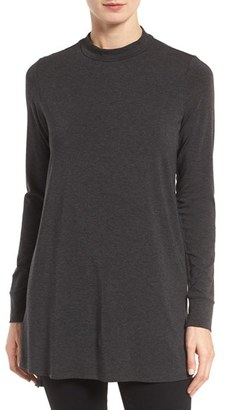 Women's Eileen Fisher Stretch Tencel Jersey Tunic $238 thestylecure.com