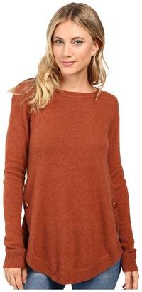 Christin Michaels Juliet Coverstitch Circle Hem Cashmere Sweater $179 thestylecure.com