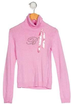 Blumarine Girls' Turtleneck Sweater