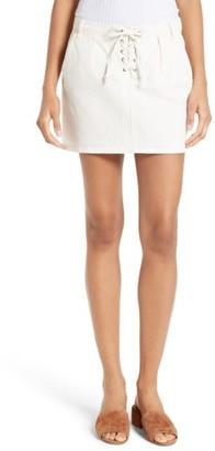 Frame Women's Le Mini Lace-Up Denim Skirt
