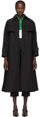 Prada Black Belted Trench Coat