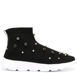 RED Valentino RED(V) crystal stud sock sneakers