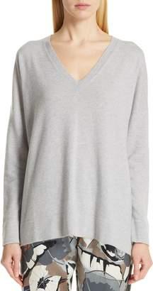 Fabiana Filippi Tulle Inset Cashmere Sweater