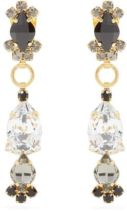 Marni Crystal-embellished drop earrings