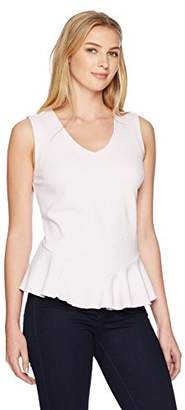 Lark & Ro Women's Sleeveless Peplum Top