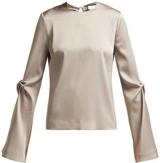 GALVAN Ruched satin blouse