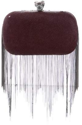 House Of Harlow Ponyhair Jude Clutch