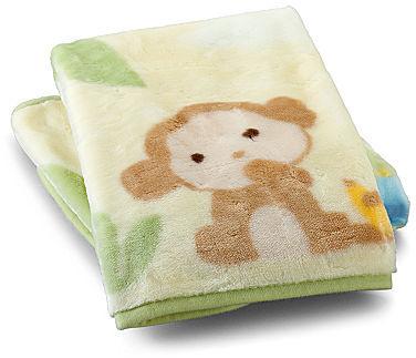 Carter's Monkey Snoozy Snug Baby Blanket