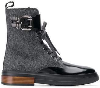 Tod's ankle length combat boots
