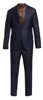 Brunello Cucinelli Solid Wool Suit