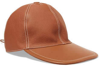Loewe Textured-leather Baseball Cap - Camel
