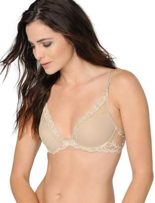 A Pea in the Pod Natori Feathers Contour Plunge Nursing Bra- Nude