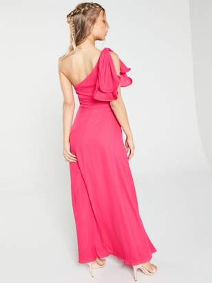 Very One Shoulder Soft Maxi Dress - Pink