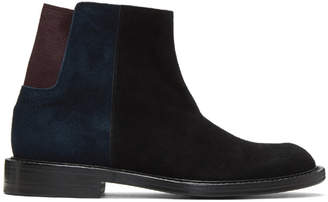 Kolor Black Colorblock Chelsea Boots