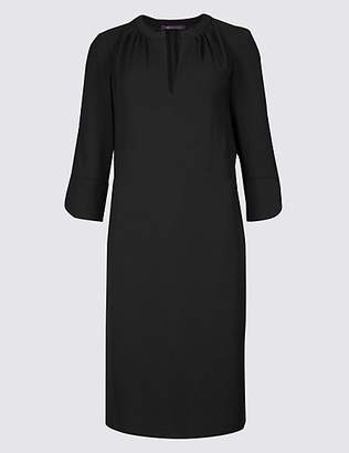M&S Collection Satin 3/4 Sleeve Shift Dress