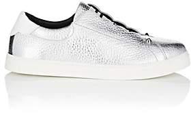 Fendi Women's Leather Slip-On Sneakers - Silver