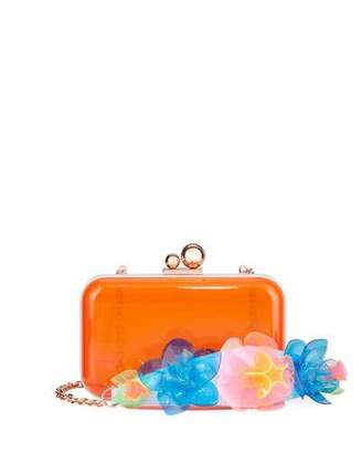 Sophia Webster Vivi Jumbo Lilico Acrylic Box Clutch Bag