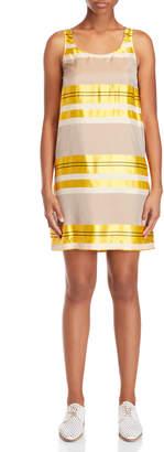 Alysi Satin Stripe Shift Dress