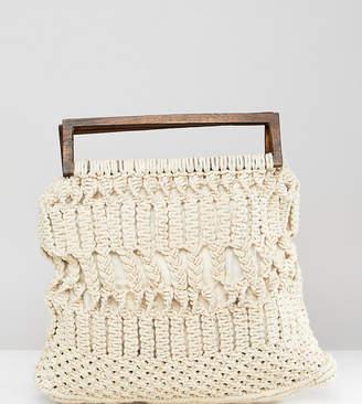 Cleobella Exclusive Macrame Bag With Wooden Handle