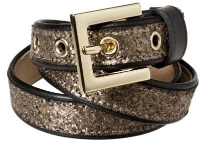 Merona Chunky Glitter Belt - Gold