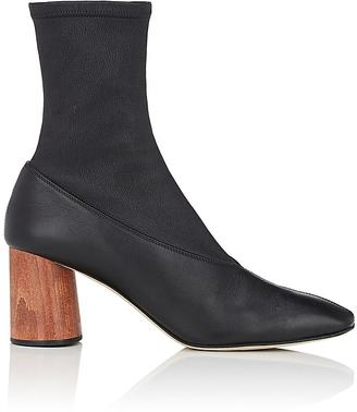 Women's Leather Square-Toe Boots