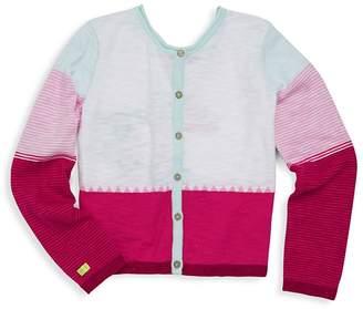 Catimini Little Girl's & Girl's Colorblock Cardigan