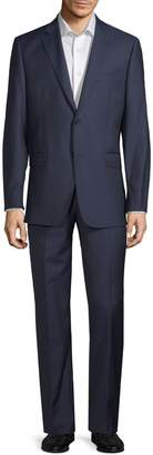 Saks Fifth Avenue Made In Italy Two-Piece Slim Fit Herringbone Wool Suit