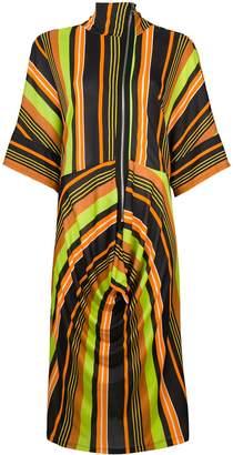 J.W.Anderson draped skirt striped dress