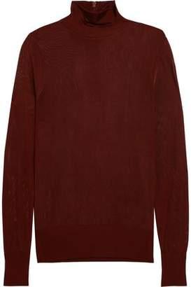 DKNY Open-Knit Turtleneck Sweater