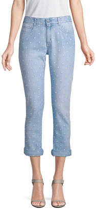 Stella McCartney Star Cotton Skinny Boyfriend Pant