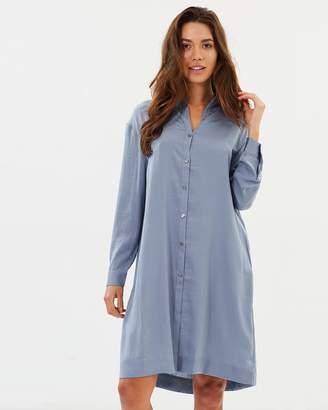 Privilege Primrose Lace Up Shirt Dress