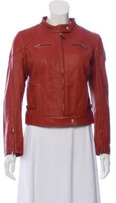Fendi Leather Zip-Up Jacket Leather Zip-Up Jacket