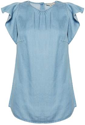 Great Plains Chambray Frill Top