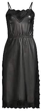 Fleur Du Mal Women's Leather & Rose Lace Dress