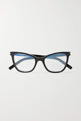 Saint Laurent Cat-eye Acetate Optical Glasses - Black
