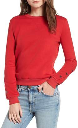 Rebecca Minkoff Sarah Stud Stripe Sweatshirt