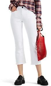 Current/Elliott Women's The Kick Mid-Rise Flared Jeans - White