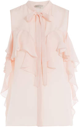 Emilio Pucci Silk Chiffon Sleeveless Blouse