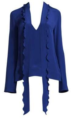Derek Lam Silk Scarf Tie Blouse