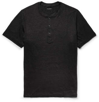 Club Monaco Slim-Fit Slub Linen-Jersey Henley T-Shirt