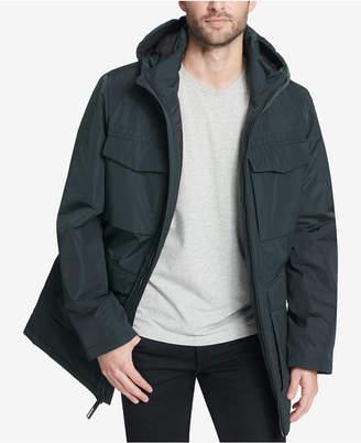 DKNY Men's Four-Pocket Full-Zip Hooded Parka