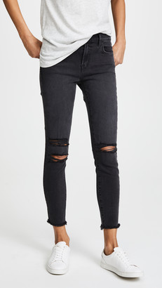 J Brand Photo Ready Cropped Mid Rise Skinny Jeans