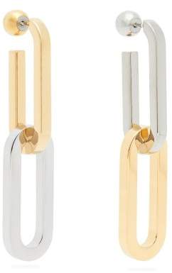 Burberry Chain Metal Drop Earrings - Womens - Gold