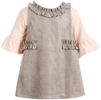 First Impressions Baby Girls 2-Pc. Bodysuit & Faux-Suede Jumper Set, Created for Macy's