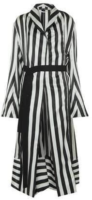 Ann Demeulemeester Striped Silk-Satin Kimono