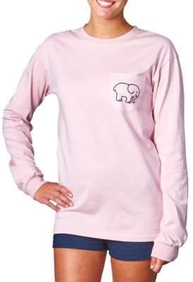 Ivory Ella Headliner Pigment-Dyed Long-Sleeve T-Shirt