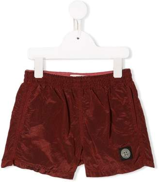 Stone Island Junior logo swim shorts